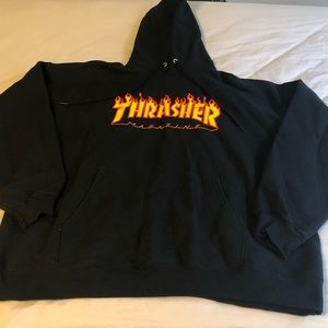 Thrasher Black Classic Hoodie Sweatshirt L